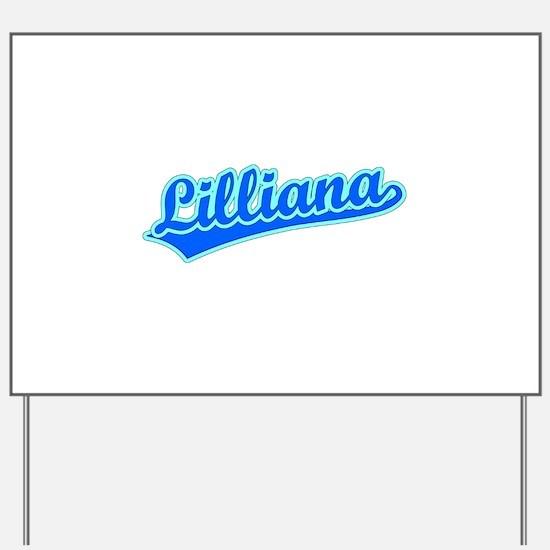 Retro Lilliana (Blue) Yard Sign