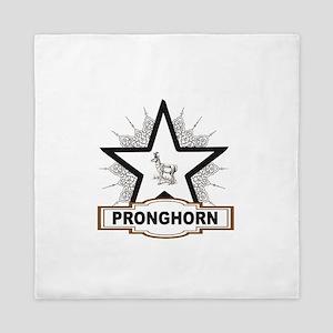 white star pronghorn centered Queen Duvet