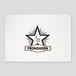 white star pronghorn centered 5'x7'Area Rug
