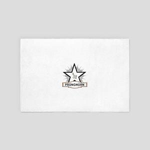 white star pronghorn centered 4' x 6' Rug