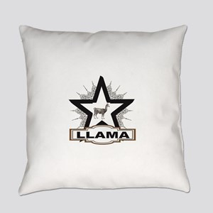 llama white star tag Everyday Pillow