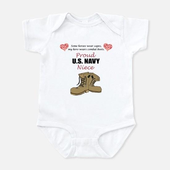 Proud US Navy Niece Infant Bodysuit