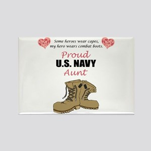 Proud US Navy Aunt Rectangle Magnet