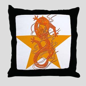 Orange Dragon for Tibet Throw Pillow