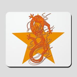 Orange Dragon for Tibet Mousepad