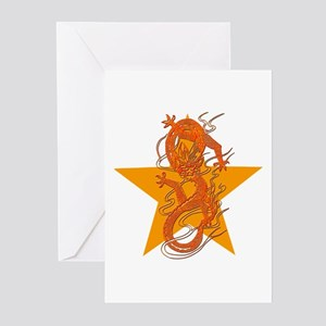 Orange Dragon for Tibet Greeting Cards (Pk of 10)
