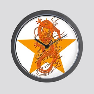 Orange Dragon for Tibet Wall Clock