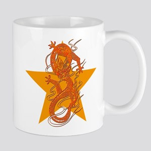 Orange Dragon for Tibet Mug