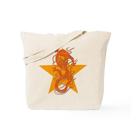 Orange Dragon for Tibet Tote Bag