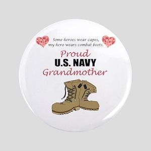 "Proud US Navy Grandmother 3.5"" Button"