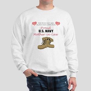 Proud US Navy Mother-in-Law Sweatshirt