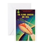 """Greeting (10)-""""The Flying Saucers Real"""""""