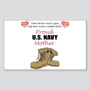 Proud US Navy Mother Rectangle Sticker