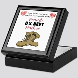 Proud US Navy Mother Keepsake Box