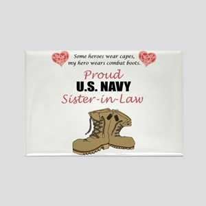 Proud US Navy Sister-in-Law Rectangle Magnet