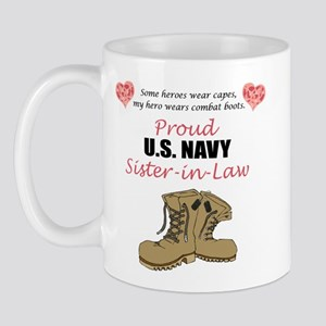 Proud US Navy Sister-in-Law Mug