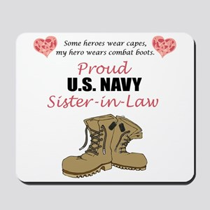 Proud US Navy Sister-in-Law Mousepad
