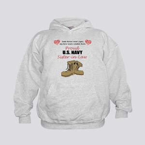 Proud US Navy Sister-in-Law Kids Hoodie