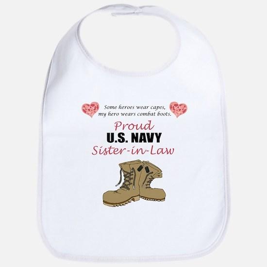 Proud US Navy Sister-in-Law Bib