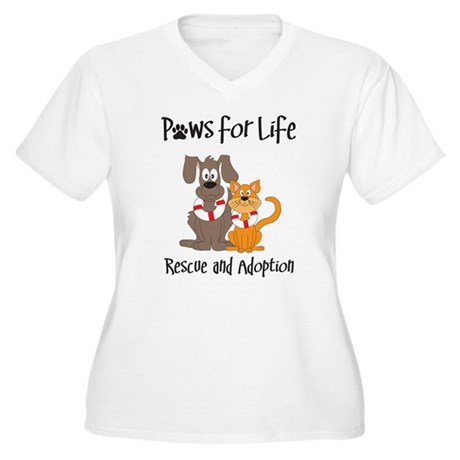 paws-for-life Plus Size T-Shirt