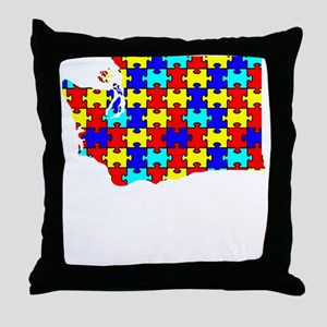 Washington - Autism Awareness Throw Pillow
