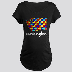 Washington - Autism Awareness Maternity T-Shirt
