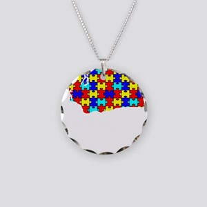 Washington - Autism Awarenes Necklace Circle Charm
