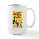 """Large Mug - """"Saucepans and Single Girl"""""""