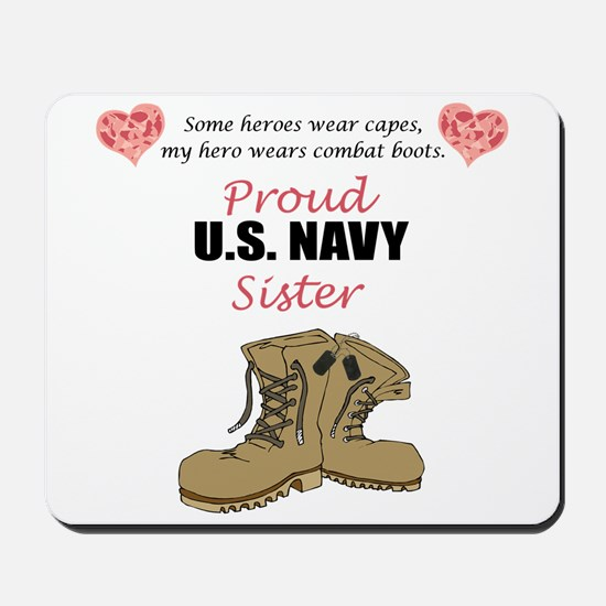 Proud US Navy Sister Mousepad