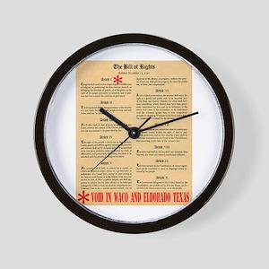 Texas Civil Rights Wall Clock