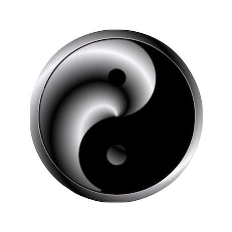 "Yin and Yang 3.5"" Button"
