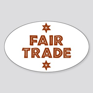 Activism - Fair Trade Oval Sticker (10 pk)