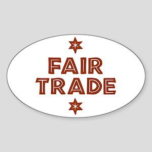 Activism - Fair Trade Oval Sticker (10 pk)