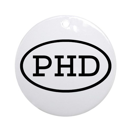PHD Oval Ornament (Round)