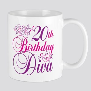 20th Birthday Diva Mug