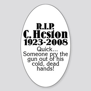 Cold Dead Hands Oval Sticker