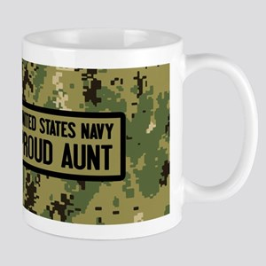 U.S. Navy: Proud Aunt (Camo) 11 oz Ceramic Mug