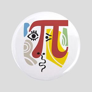 """Pi Symbol Pi-Casso 3.5"""" Button"""