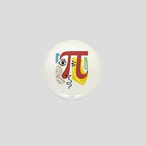 Pi Symbol Pi-Casso Mini Button