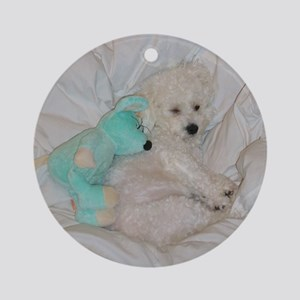 SOPHIE AND MOUSE ORNAMENT (ROUND)