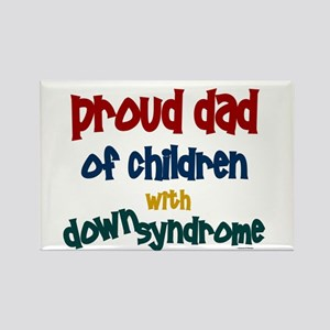 Proud Dad.....2 (Children DS) Rectangle Magnet