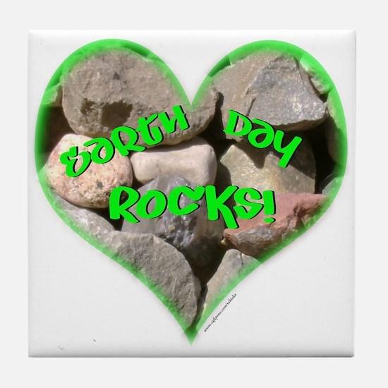 Earth Day Rocks! Tile Coaster