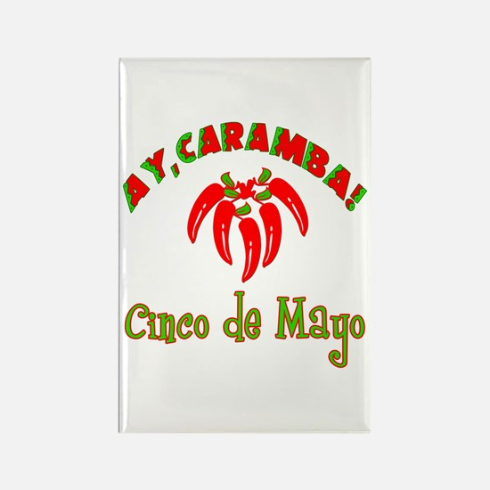Cinco de Mayo Chili Peppers Rectangle Magnet