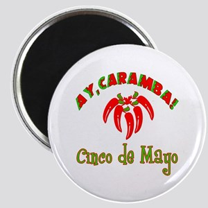 Cinco de Mayo Chili Peppers Magnet