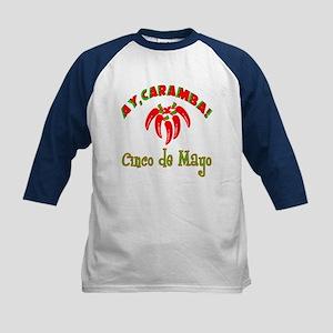 Ay Caramba Cinco de Mayo Kids Baseball Jersey