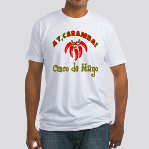 Cinco de Mayo Chili Peppers Fitted T-Shirt