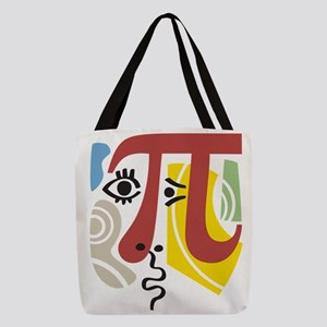 Pi Symbol Pi-Casso Polyester Tote Bag
