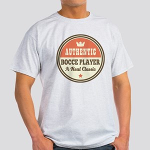 Bocce Player Funny Vintage White T-Shirt