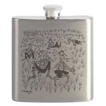 Dude Ranch Cartoon 4690 Flask