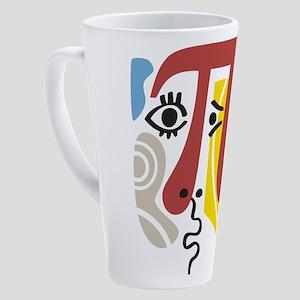 Pi Symbol Pi-Casso 17 oz Latte Mug